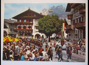 St. Johann am Wilden Kaiser, Umzug, Fotokarte (39735)