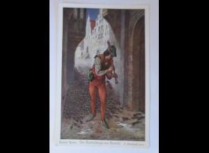 Märchen, Der Rattenfänger von Hameln, Brüder Grimm, 1901, O. Herrfurth♥ (67085)