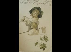 """""""Frauen, Mode, Kinder, Netz, Hutmode"""" 1899, sig. M.S.M ♥"""