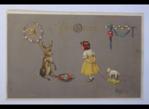Ostern, Kinder, Spielzeug, Hase, Glocke, Ostereier, 1909 ♥ (63058)
