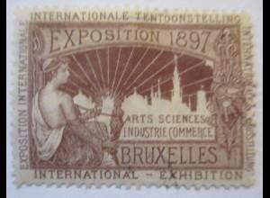 Belgien Brüssel Expo 1897 Reklamemarke ♥ (40681)