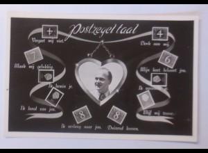"""""""Briefmarkensprache, Niederlande, """" 1940 ♥"""