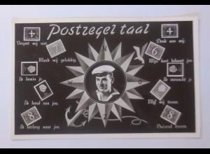 """""""Briefmarkensprache, Niederlande, Matrose, Kompass"""" 1940 ♥"""