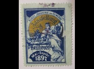 Heilbronn, Kunst - und Gewerbeausstellung 1897 Reklamemarke (71039)