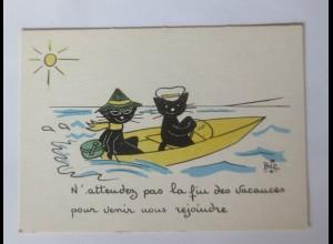 Katzen, Spiegel, 1945, Biz ♥