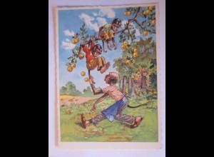 """Personifizierte Affen, Apfelbaum"" 1950 ♥ (27242)"