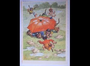 """""""Personifizierte Affen, Regenschirm"""" 1950 ♥ (27245)"""