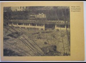 Österreich zerstörtes Wien 1945 Eislaufplatz Engelmann