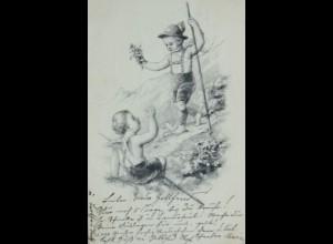Engel, Trachten, Berge, 1903, Paul Bergmann ♥ (12892)