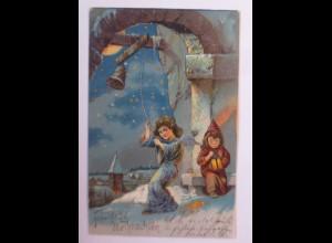 Weihnachten, Engel, Glockenhaus, Kinder, Laterne, 1904 ♥