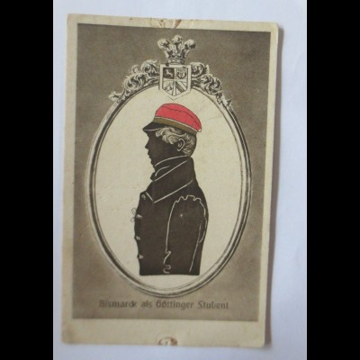 Studentika, Deutschtum im Ausland, Bismarck als Göttinger Student, 1910 ♥