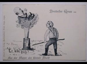 Politik, Karikatur, Deutscher Gruss, Aus der Mappe des kleinen Moritz (20129)