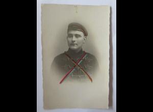 Studentika, Ungarn, Student, 1910, Fotokarte ♥