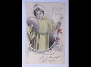 Ostern, Kinder, Mantel, Osterei, 1903 ♥ (63075)