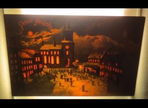 """""""Neujahr, Stadt, Kirche"""" 1900, Halt gegen das Licht ♥ (53781)"""