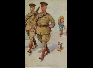 Soldat, Commandeur, Kinder, Spielzeug, Weinen, 1910, Lawson Wood ♥ (3586)