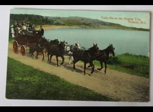 Kanada, Victoria BC, Tally-Ho on the Dagley Trip, 1909 (21867)