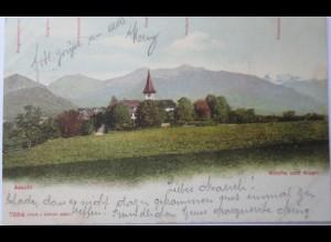 Schweiz, Aeschi, Dorfansicht, 1902