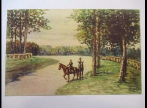 Pferde, Künstlerkarte ca. 1910 (35164)