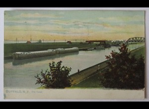 USA, Buffalo NY, Erie Canal, Tuck´s Post Card1907 (37132)