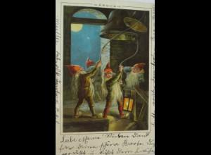 """""""Märchen, Zwerge, Glocke, Laterne, Mond"""" 1899 ♥ (3941)"""
