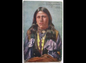 Indianer, The Song of Hiawatha (Longfellow) Tuck´s Oilette