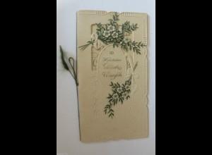 """""""Herzlichen Glückwunsch zur Verlobung"""" 1900, Klappkarte ♥"""