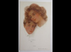 Künstlerkarte, Chums, Frauen, Kinder, Mode, 1910 ♥ (21381)