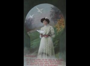 """""""Taube, Frauen, Taubenpost"""" 1908 ♥ (24441)"""