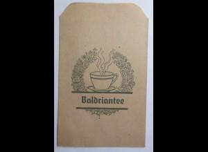 Werbung, Reklame, Kaufladen Tütchen, Baldriantee, ca.1920 ♥ (69586)