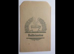 Werbung, Reklame, Kaufladen Tütchen, Baldriantee, ca.1920 ♥ (69590)