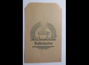 Werbung, Reklame, Kaufladen Tütchen, Baldriantee, ca.1920 ♥ (69592)