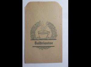 Werbung, Reklame, Kaufladen Tütchen, Baldriantee, ca.1920 ♥ (69593)