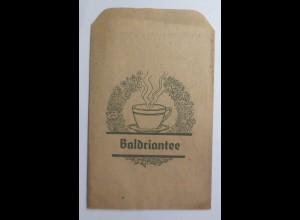 Werbung, Reklame, Kaufladen Tütchen, Baldriantee, ca.1920 ♥ (69596)