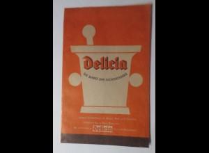 Werbung, Reklame, Kaufladen Tütchen, Delicia Schädlings Präparate ♥ (69600)