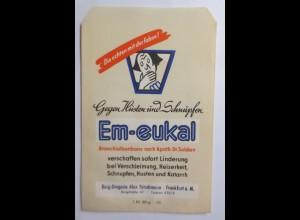 Werbung, Reklame, Kaufladen Tütchen, Em-eukal, Gegen Husten u. Schnupfen♥(69602)