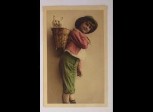 """Kinder, Mode, Katzen, Korb"" 1920 ♥"