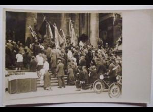 Österreich, Christl. Gewerkschaft Gedenkfeier Fahnen Fahrrad, Fotokarte (39302)