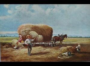 """Künstlerkarte, N.v. Santho, Reklame, Unterberg, 2. Erntesegen"" 1910 ♥"