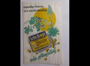 Werbung, Reklame, Kaufladen Tütchen, Gelbe Drops Verdauung ♥ (69612)