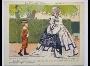 Kaufmannsbild Ricoles Alcool de Menthe, sign. Gerbault ca. 1910