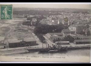 Frankreich Lorient, Panorama Schiff steamer