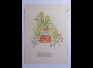 Engel, Schutzengel, Kinder, Wiege, 1951 ♥ (62303)