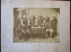 Bayern Männer Herrenclub großformatiges original Foto 1882