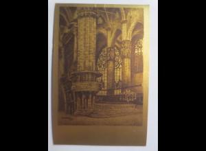 Metallkarte, Innenraum des Dom´s, 1910 ♥ (69637)