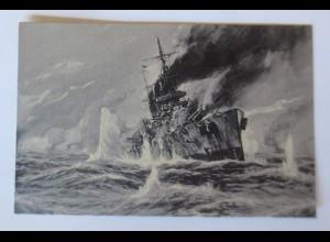 Marine, Matrosen Seegefecht in der Nordsee am 24 Jan. 1915, Willy Stöwer♥