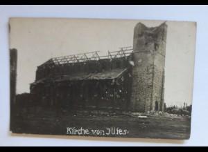 Fotokarte,Zerstörte Kirche von Illies Frankreich ♥ (55112)