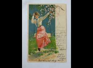 Pfingsten, Frauen,Schaukel, 1901 ♥ (32269)