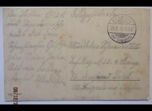 Weihnachten WW 1, Feldpost 1915 aus Eisern Kr. Siegen (30897)