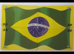 4.Telefonkarten, Dia da Bandeira, Fahne Brasilien, Nr. 30 ♥ (32192)